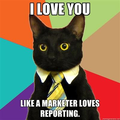 Я люблю тебя так же сильно, как маркетолог любит отчетность.