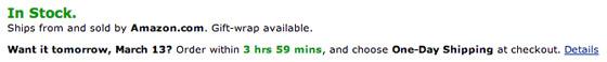 Amazon: сроки доставки