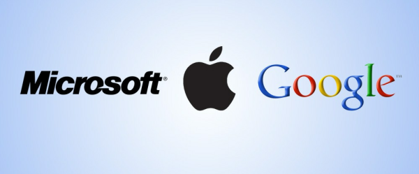 Microsoft, Apple и Google