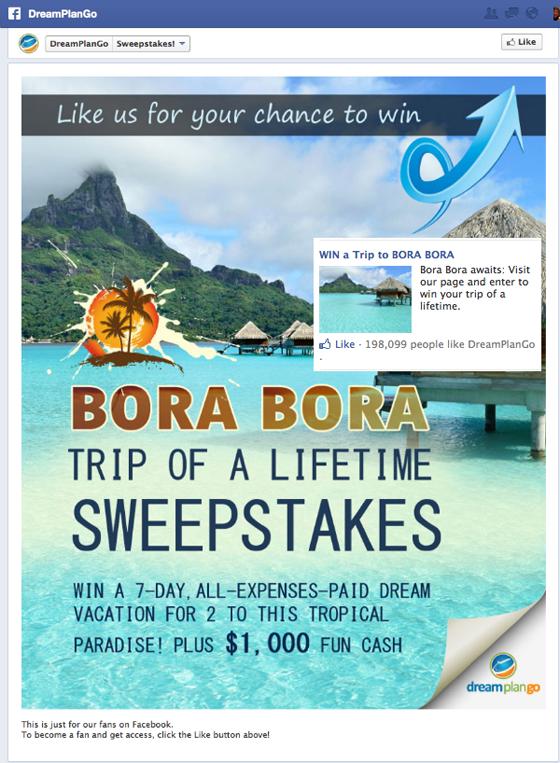 DreamPlanGo: выиграй поездку на Бора-Бора
