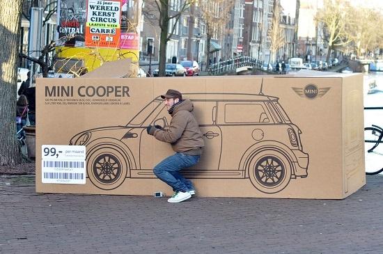 19. Mini Cooper boxes