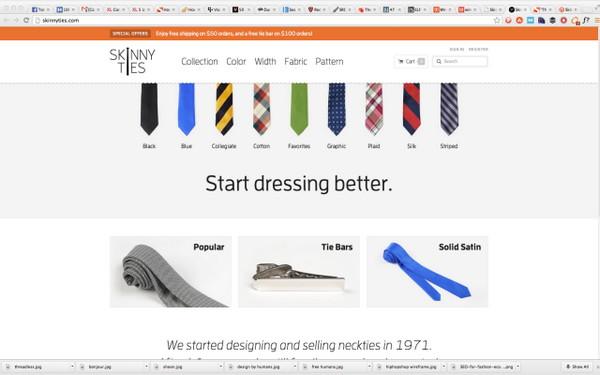 Интернет-бутик Skinnyties.com