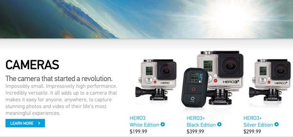 GoPro предлагают 3 версии