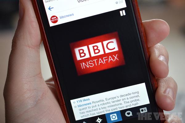 BBC проникает в Instagram