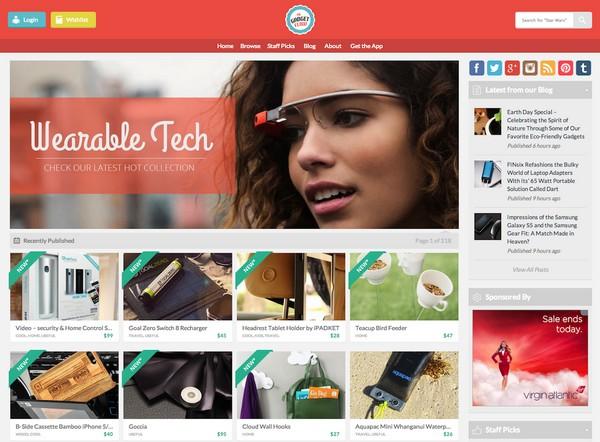 Иллюстрация к статье: 16 примеров интернет-магазинов с плоским дизайном