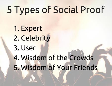 5 типов социальных доказательств