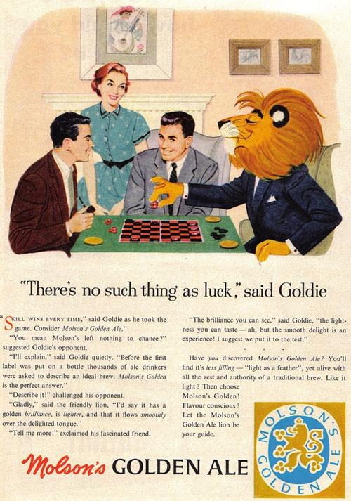 Molson's Lucky Golden Ale