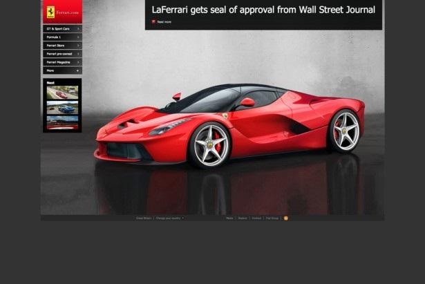 Сайт Ferrari