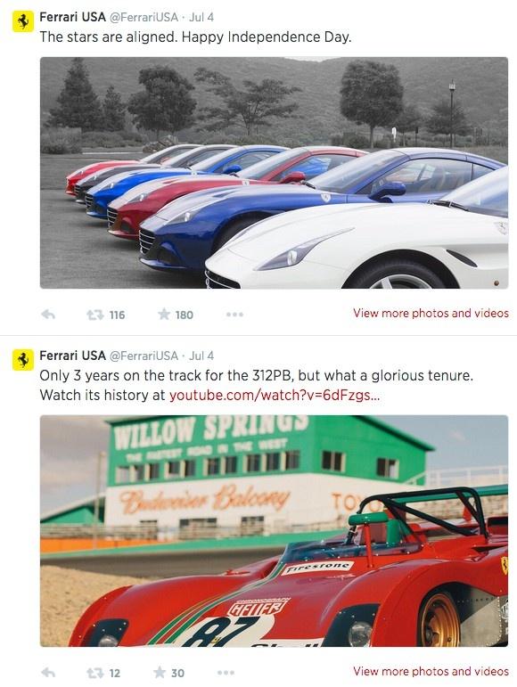 Ferrari в Twitter