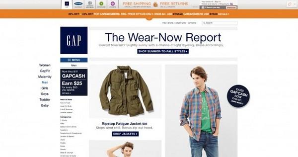 магазин одежды Gap.com
