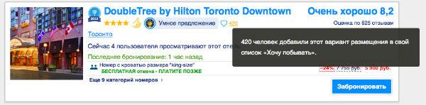 Рейтинг популярности отелей