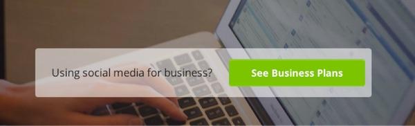 CTA-кнопка на Hootsuite