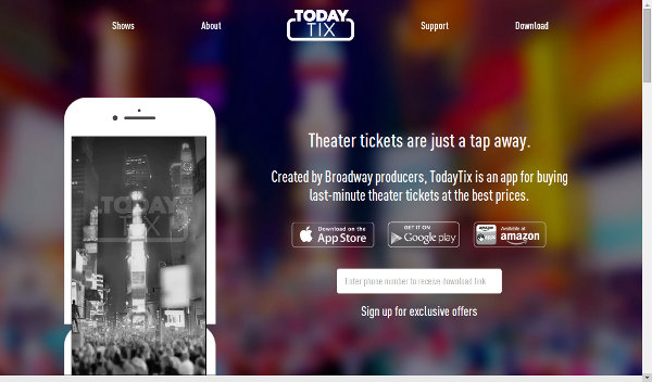 Иллюстрация к статье: Стартап TodayTix: билеты на все мюзиклы Бродвея через мобильное приложение
