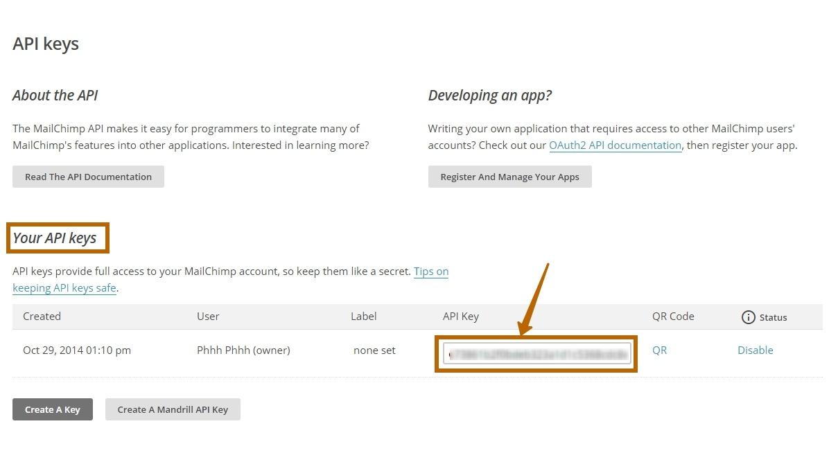 Ваш API ключ