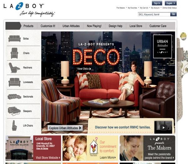 магазин мебели Lazboy