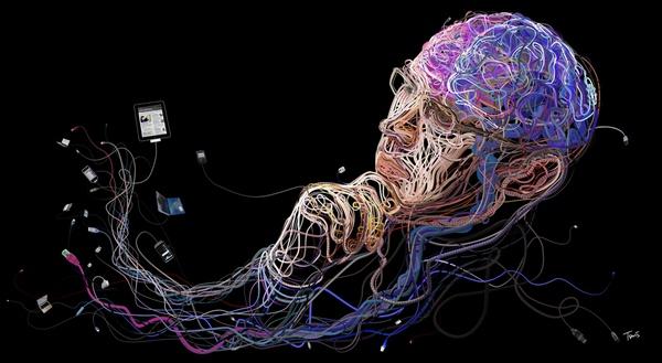 Иллюстрация к статье: Как смартфоны меняют нашу нервную систему?