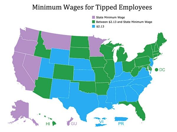 Карта минимальной заработной платы