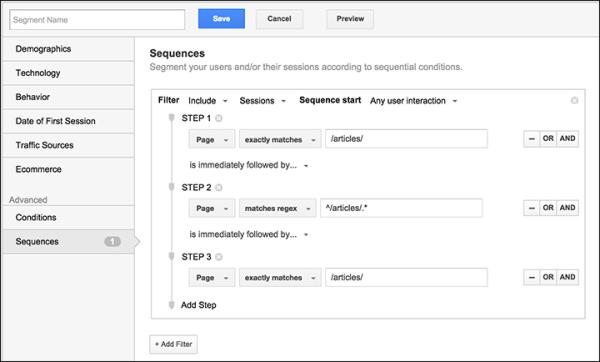 Определение пути в Google Analytics