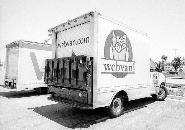 Доставочный грузовик Webvan