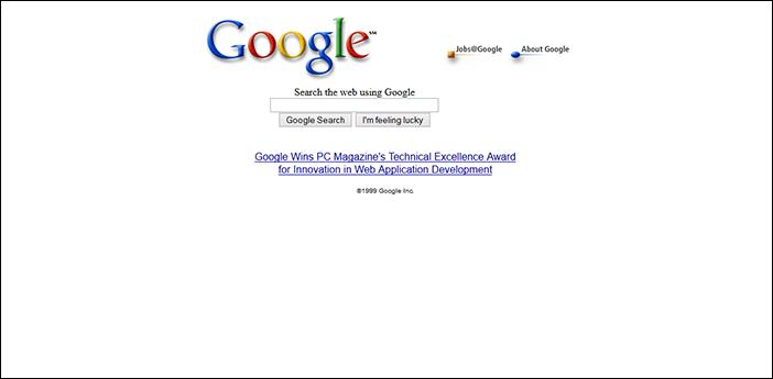 Старый дизайн Google