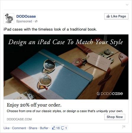 Пример ретаргетинг в Facebook