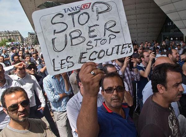 Митинг служб такси