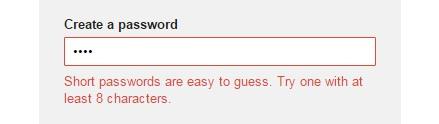 Регистрационная форма Google