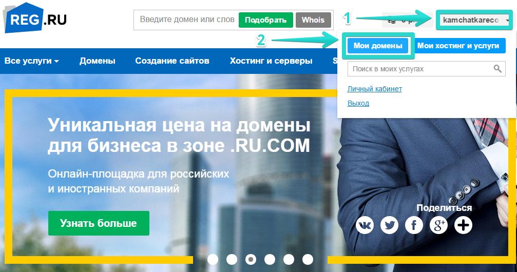 Иллюстрация к статье: Привязка домена и поддомена в панели reg.ru