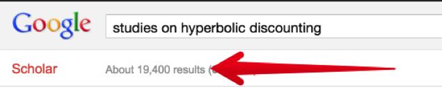 эффект гиперболического дисконтирования