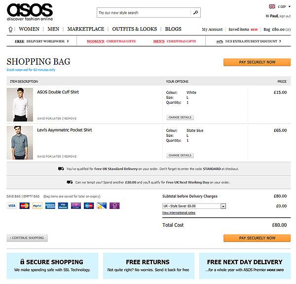 Иллюстрация к статье: Пользовательский опыт интернет-магазинов: эффективное оформление заказов от ASOS