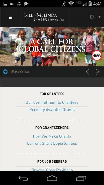 Сайт Фонда Билла и Мелинды Гейтс