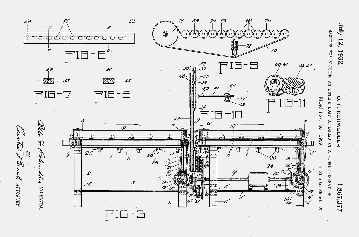 Чертежи оригинального патента Роведдера