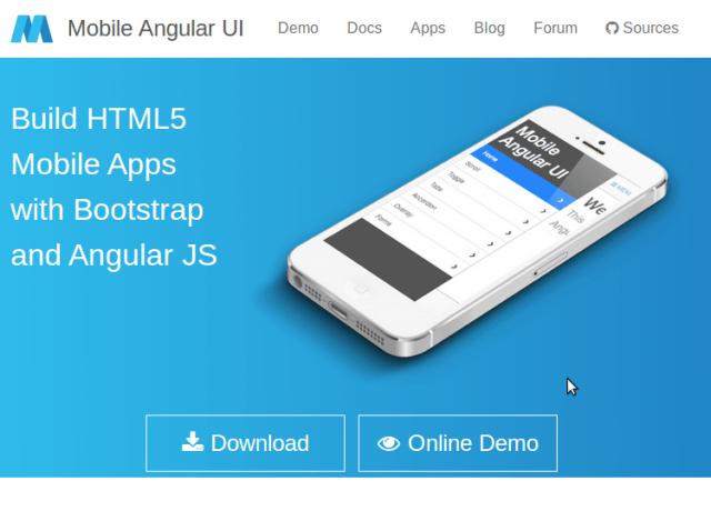 Mobile Angular UI