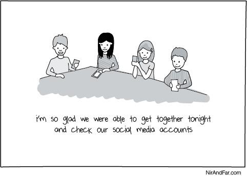 Иллюстрация к статье: Мобильная зависимость: как оторвать друзей и коллег от телефонов?