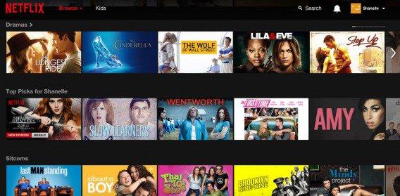 Неплохой пример персонализации от Netflix