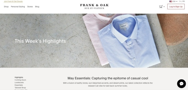 16. Frank & Oak
