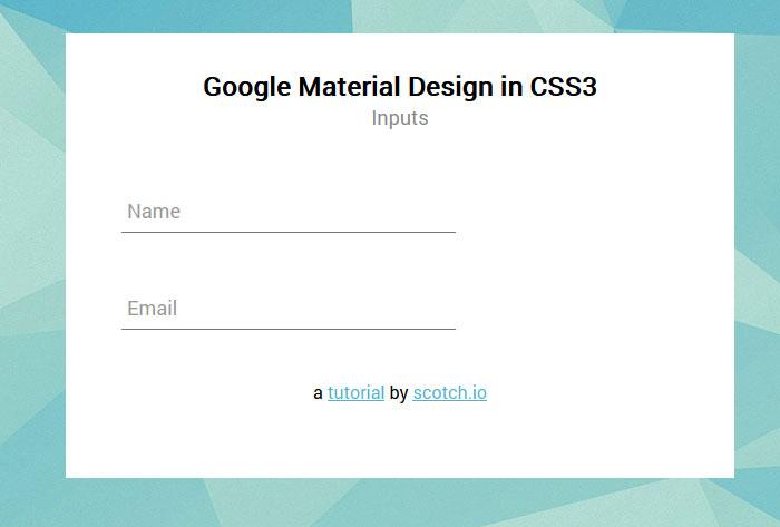 Material Design на CSS3