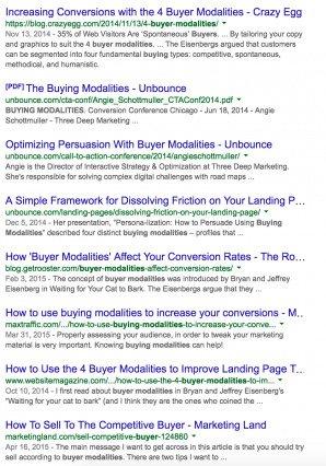 Пример поисковой выдачи
