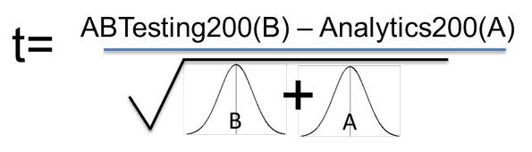 Формула определения статистического критерия
