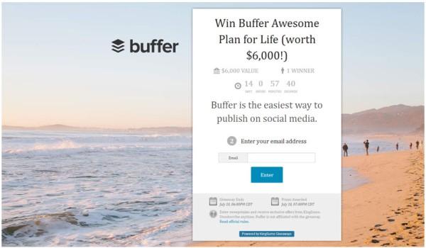 бесплатная подписка на услуги Buffer