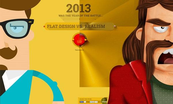 домашняя страница сайта Flat vs.Realism