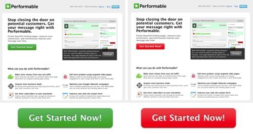 Тест Красная кнопка vs. Зеленая кнопка