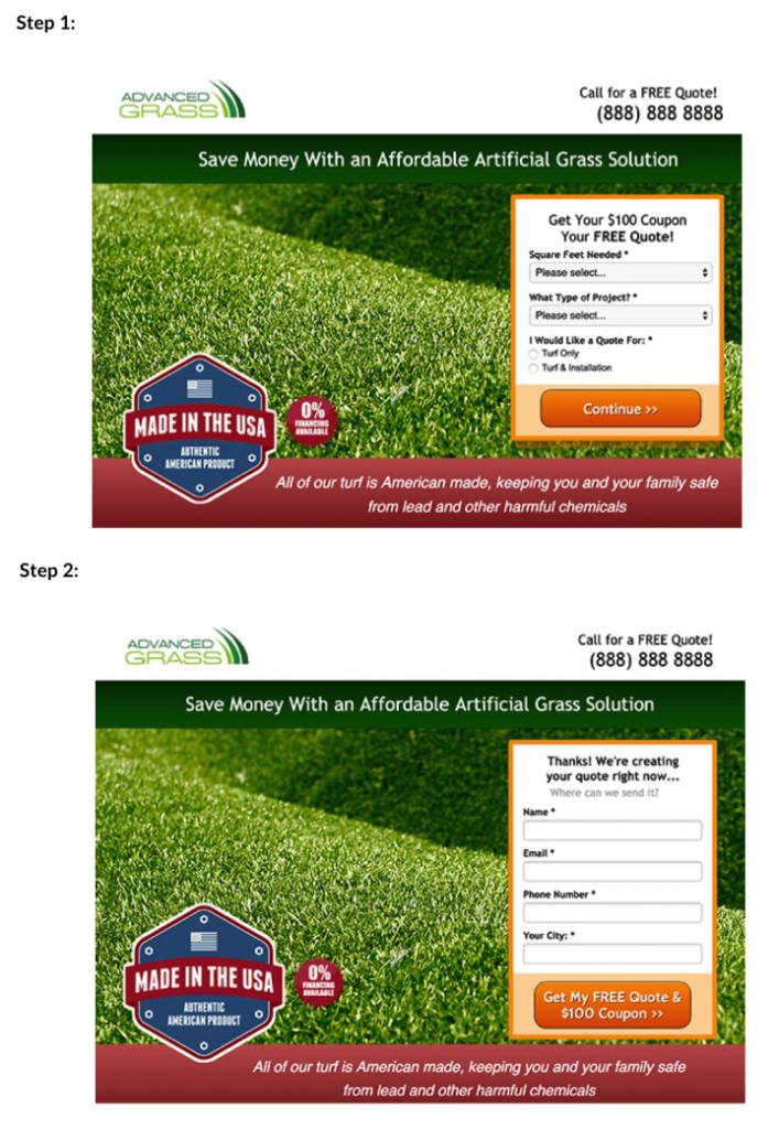 лендинг компании Advanced Grass