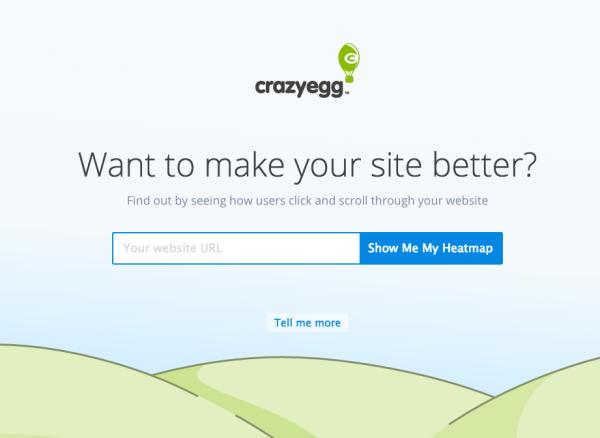 лендинг компании CrazyEgg