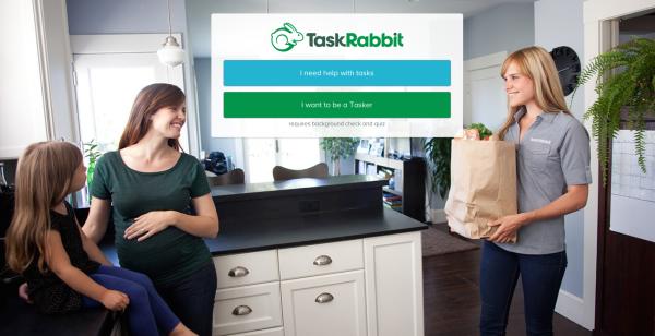 лендинг компании TaskRabbit