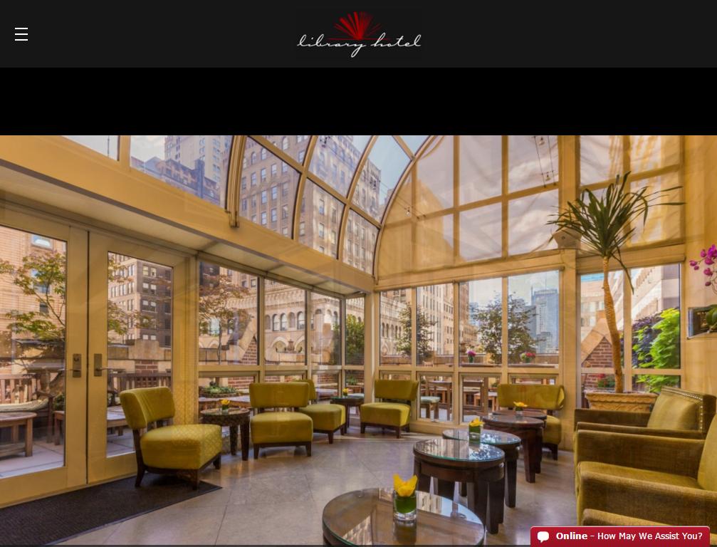 Мобильная версия сайта The Library Hotel