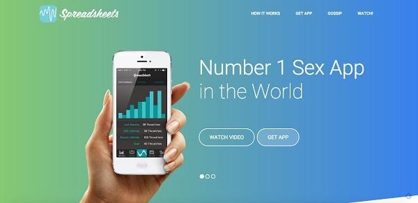 Обновленный лендинг Spreadsheets: «Секс-приложение №1 в мире»