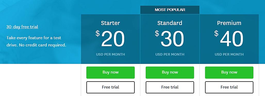 призыва к действию «Купить сейчас» на сайте компании Xero