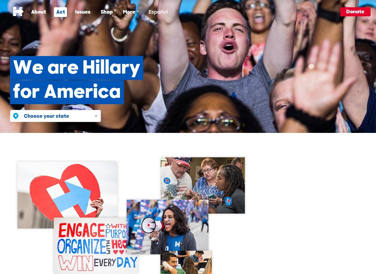 Иллюстрация к статье: Лендинг для президента: интернет-маркетинг Хилари Клинтон