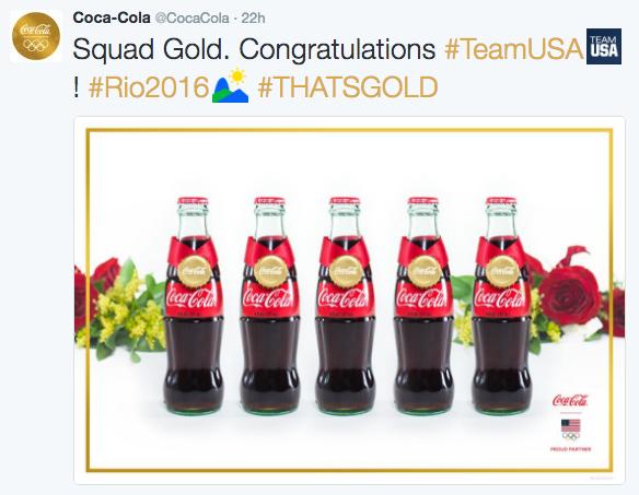 Coca-Cola: #THATSGOLD